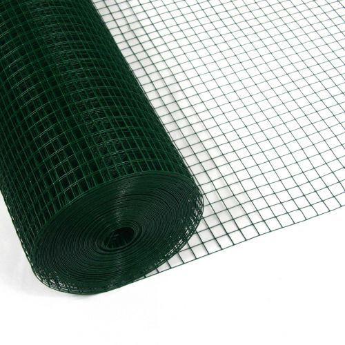 Volierendraht grün 1x10m 12x12mm 1.05mm Drahtgitter 4-Eck Maschendraht Drahtzaun