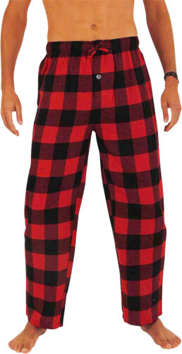 Norty Mens Cotton Yarn Flannel Pajama Lounge Sleep Pant 16 Prints Available