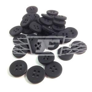 Pack De 10, 25mm Plastique Noir Bouton Boutons 4 Trous Couture (btn 273369-40)-afficher Le Titre D'origine