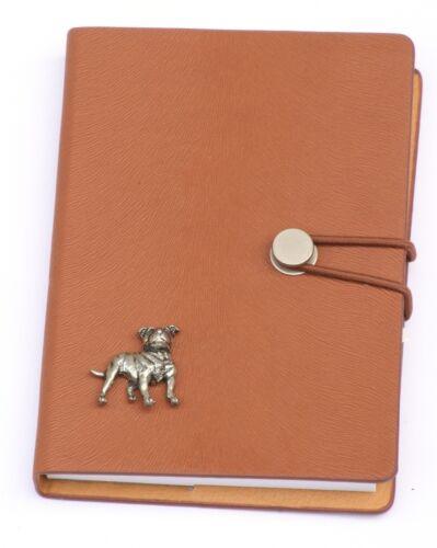Staffy style emblème A6 ordinateur portable poche taille bloc-notes idéal tir cadeau