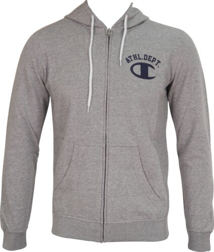 Champion Athletic Mens Hoody Full Zip Long Sleeve Hoodie Fashion Grey