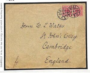 Ac375 1898 Allemagne Kiel Cambridge Gb Cover {samwells Couvre -} Pts-rs}ptsfr-fr Afficher Le Titre D'origine