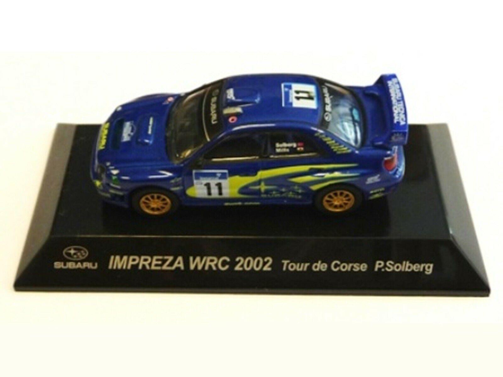 WOW EXTREMELY RARE Subaru Impreza 2002 S7 Solberg Td Corse WRC 1 64 CM's Kyosho