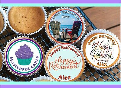 24x PRECUT PERSONALISED BABY 4 PHOTOS SHOWER//CHRISTENING RICE CUP CAKE TOPPERS