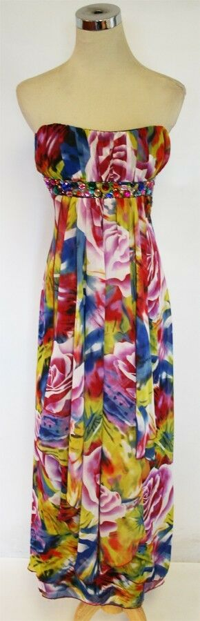 NWT ROBERTA  MULTI Evening Formal Prom Party Gown 7