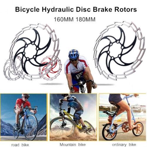 160//180mm MTB Disc Brake Rotor Hydraulic Disc Brakes Bicycle Brake Pads 6 Bolts
