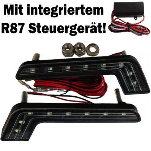 2x LED Tagfahrlicht schwarz 8 SMD Audi A1 A2 A3 A4 A5 A6 Avant A7 A8 TT Q3 Q5 Q7