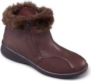 Padders-ADELE-Ladies-Womens-Leather-EEE-EEEE-Extra-Super-Wide-Winter-Boots-Brown