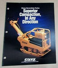 1988 Stone Construction Equipment Reversible Plate Compactor Brochure Free Sh