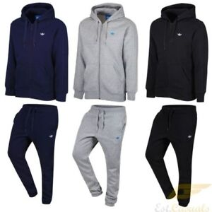 cheap for sale size 40 vast selection Détails sur Adidas Spo Survêtement Complet Classique Trefoil Gris Noir Bleu  Marine S/M/L/XL