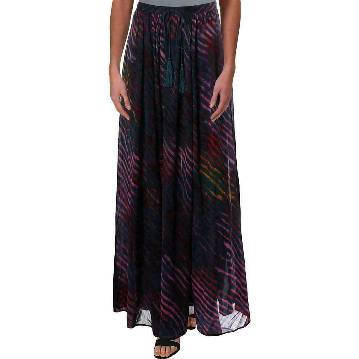 Free People True To You Printed Maxi Skirt Navy S