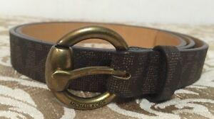 f06ff0c8065f NWT Michael Kors Medium MK Logo Belt Women s Brown 553742C Brass ...