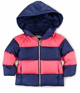 fd838aaeeaf8 RALPH LAUREN Baby Girls Quilted Hooded Down Puffer Jacket Coat Navy ...