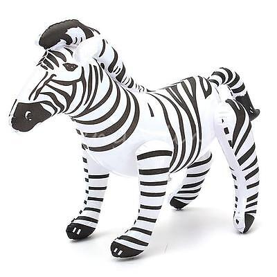 20'' Inflatable Zebra Zoo Toy Animal Party Decoration Pool Kids Sea Beach  NEW