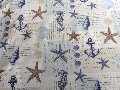 Fryetts Ocean Blue Cotton Print Fabric