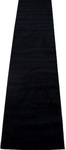 "3x16  Runner Area Rug Solid Plain Black Color Hallway  Size 2/'8/"" x 15/'5/""ft  New"