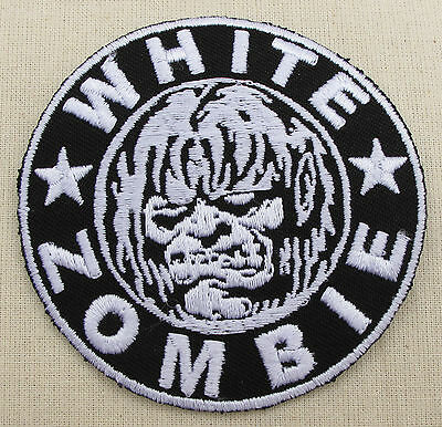 WHITE ZOMBIE  Iron On/Sew On Patch