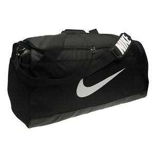 525b2bf4bbf86 Nike Brasilia Large Grip Sports Bag Black Gym Kit Bag Carryall