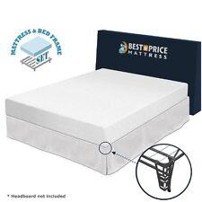 "Best Price Mattress 8"" Memory Foam Mattress and Premium Bed Frame Set, Queen"