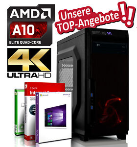 Desktop PC A10-9700 4x 3.8 GHz, 8GB DDR4, 256 GB SSD + 500GB HDD Windows 10 Pro