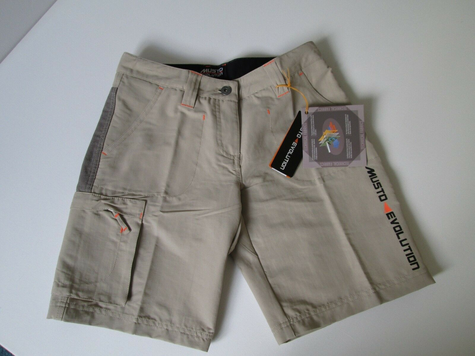 Ladies Musto Evolution Technical shorts LT0340 Light Stone 12