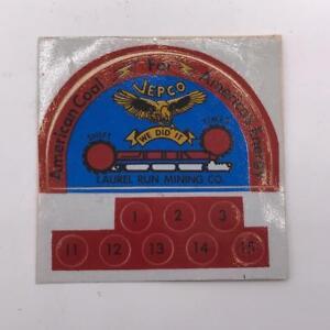 Vintage-Laurel-Run-Mining-Co-Coal-Mining-Helmet-Decal-Sticker