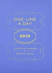 One-Line-a-Day-2019-12-Month-Planner-amp-Memory-Book-Chronicle-Books-Brand-New