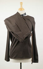 NWT BRUNELLO CUCINELLI Woman's Brown Wool Blend Sweater Twinset Size 44/8 $2525
