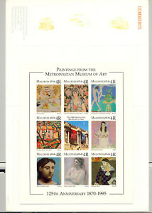 Maldives-2137-Art-Fish-Picasso-1v-M-S-of-8-Imperf-Chromalin-Proof-in-Folder