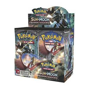10-Burning-SHADOWS-Booster-Pack-Lot-Factory-sealed-in-Box-Pokemon-Karten
