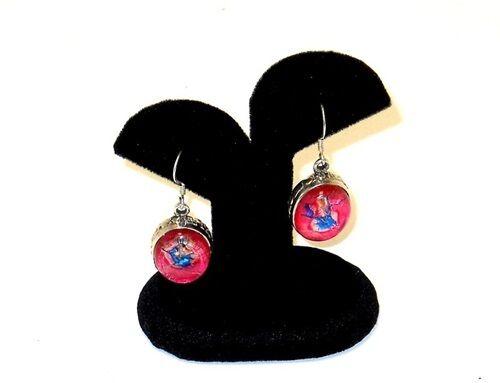 "2 Black Velvet  Earring Jewelry Display Stands  2 5//8/""W x 1 3//4/""D x 3 1//4/""H"