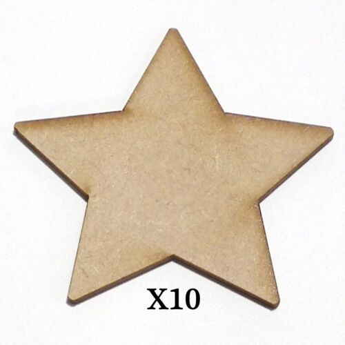 X10 Wooden MDF Christmas Xmas Stocking  Shape Plaque /& Card Making 80mm High