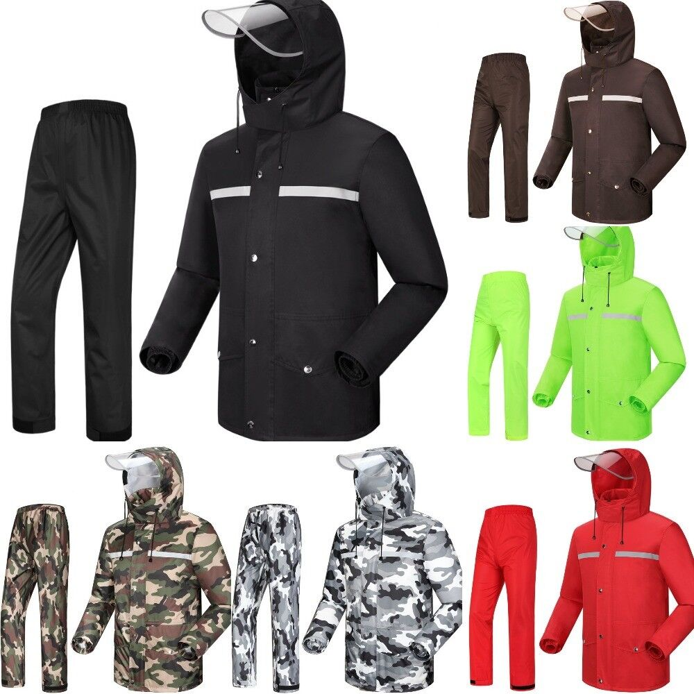 Raincoat Waterproof Motorcycle Split Men and Damens Riding Fishing Raincoat Suits