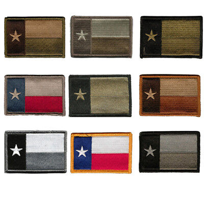 9 Pack BuckUp Tactical Morale Patch Hook Texas State Patches 3x2/""