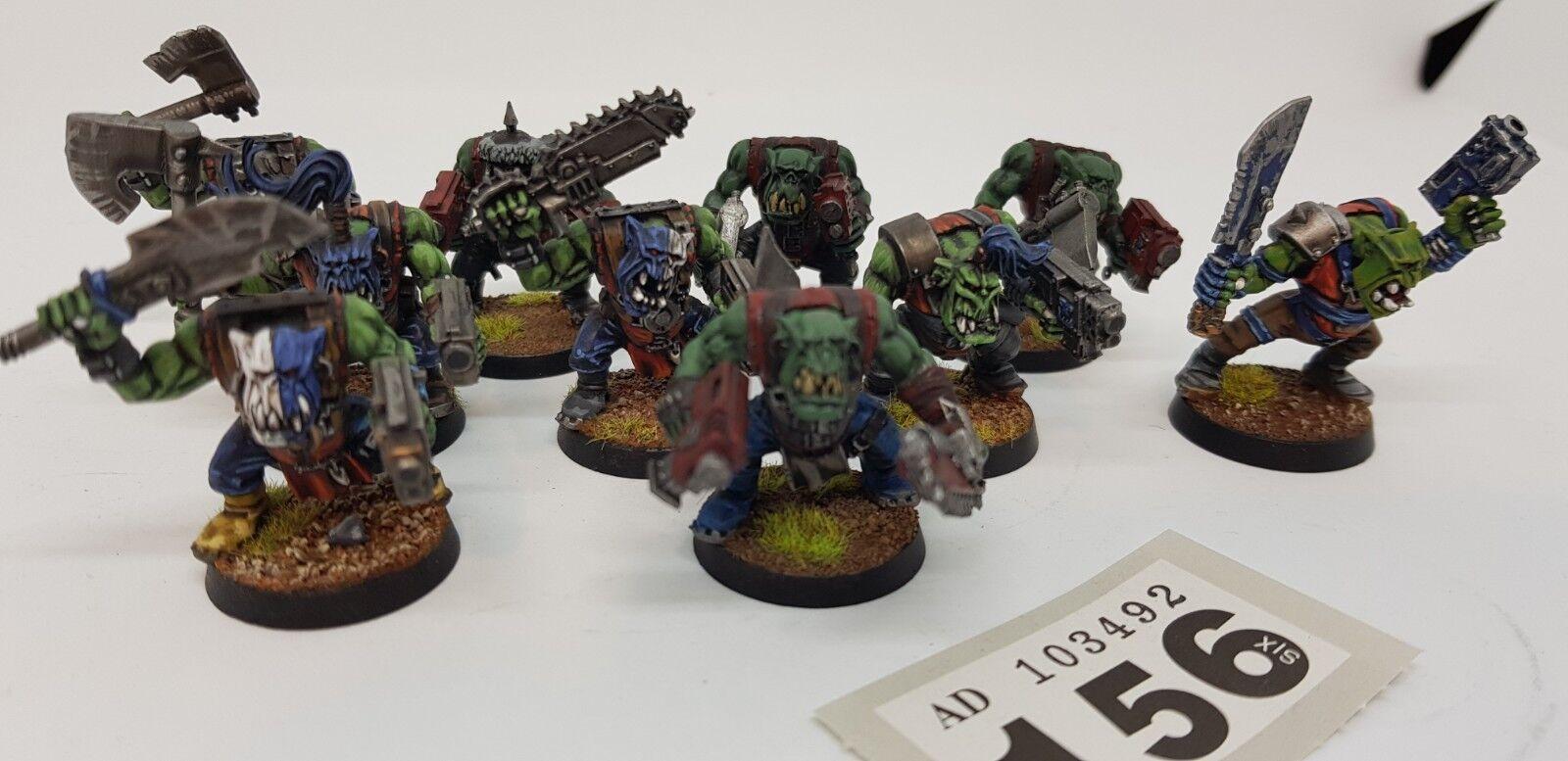 Warhammer 40k - Orks - Boyz x10 Nicley Painted (156)