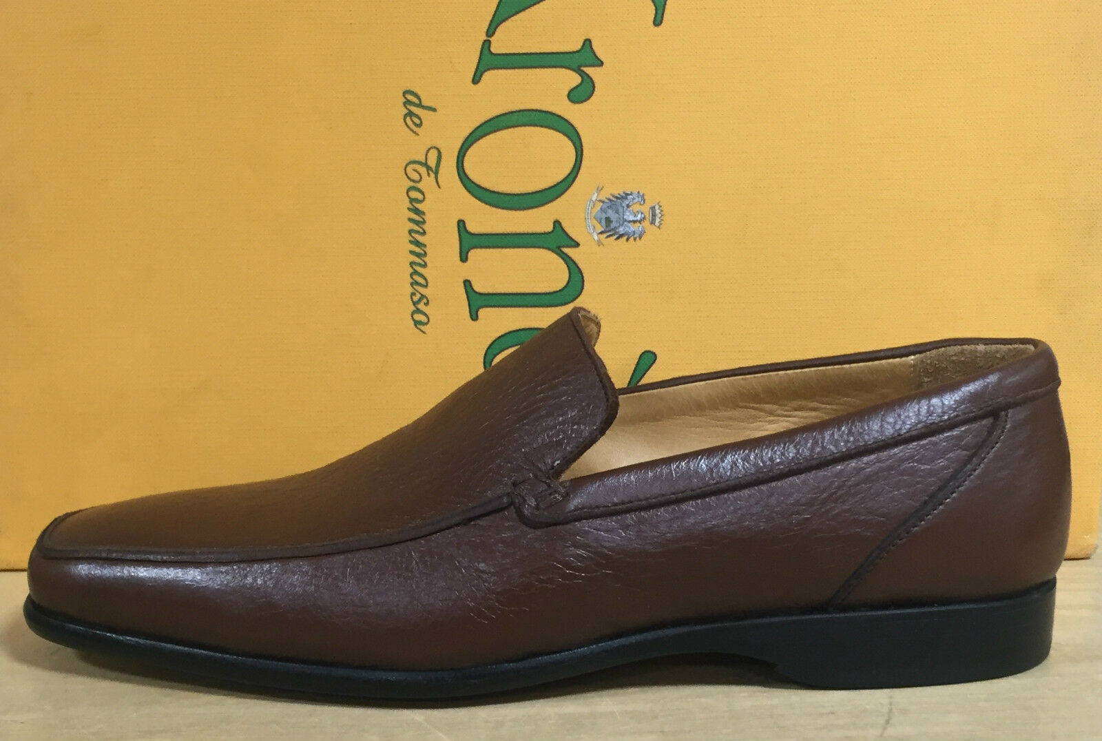 Tommaso Loafers Men's Of Excellent Manufacture Made IN Italy Leather Dark Brown