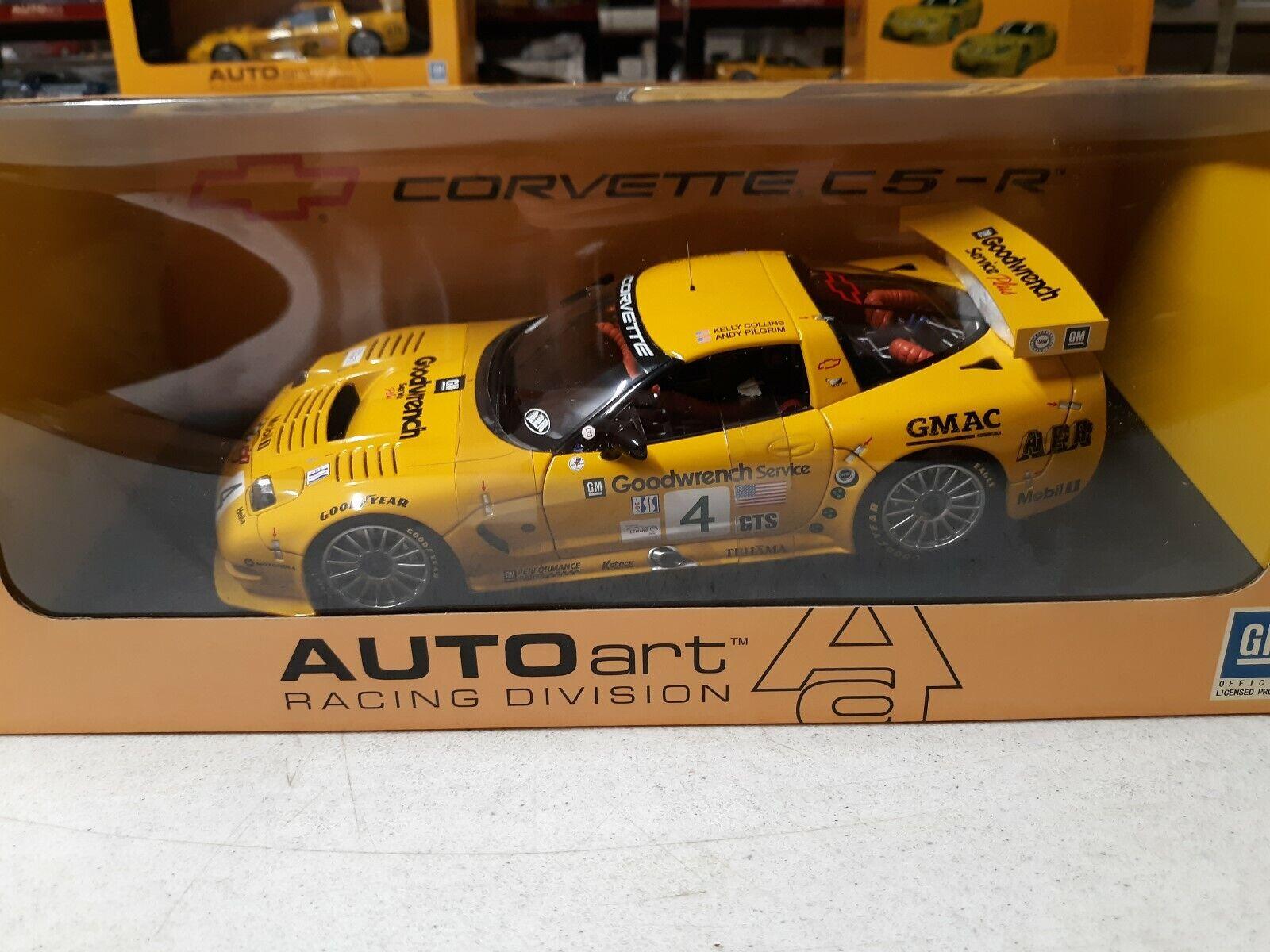AUTOart 2002 C5-R  4 Corvette Le Mans 1 18th Model  80207
