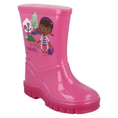 Ragazze Disney Doc McStuffins IN GOMMA DA PIOGGIA NEVE boots