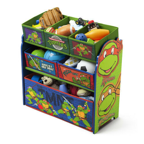 Teenage Mutant Ninja Turtles Toy Organizer Bin Bin Bin Box Storage Bedroom Boy Nursery 7581bc