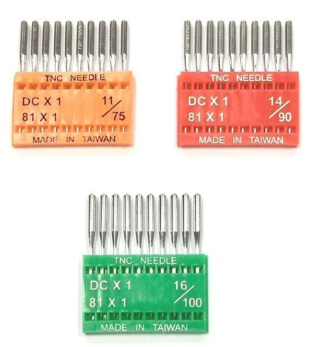 "Overlocker//Serger Needles DCx1 Chrome Finish  /""TNC/"" Brand 10//Pack 81x1"