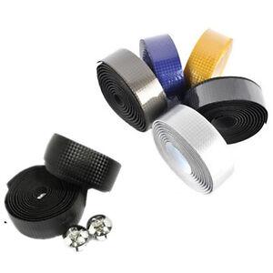 1-Pair-Road-Bike-Cycling-Bicycle-Cork-Carbon-Handlebar-Wrap-Tape-2-Bar-Plugs