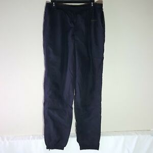 d9428f30a24d8 Details about Vintage Reebok Black Nylon Track Sweat Jogger Pants Size  Large Made In Taiwan