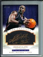 Karl Malone 13/14 Panini Immaculate Collection Autograph #49/49