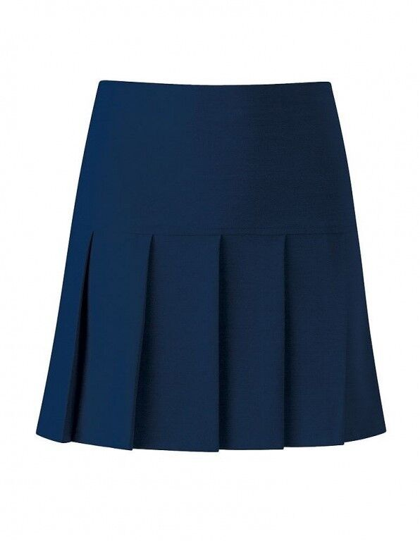 Ladies//girls Size 16 stretch school skirt business skirt fan pleat colour navy
