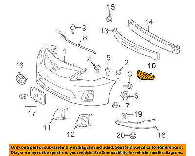 TOYOTA OEM 11-13 Corolla Front Bumper-Side Retainer Bracket Left 5211602170