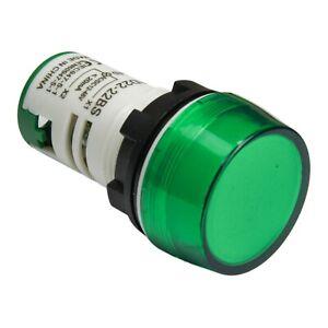 Lampada Segnale LED 22mm 12v AC//DC VERDE