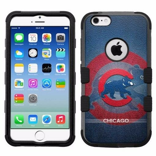 half off a679a 6c61b for Apple iPhone 6/6S Rugged Armor Impact Hybrid Case Chicago Cubs #BG