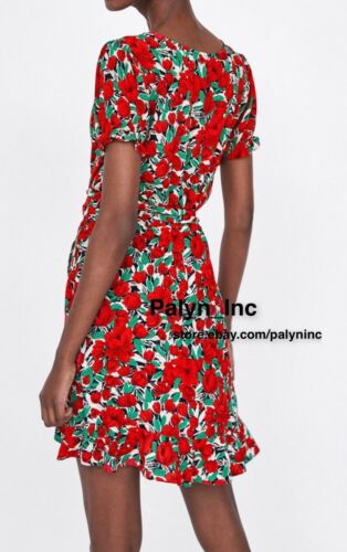 RARE/_NWT ZARA SS18 FLOWING CROSSOVER FLORAL PRINT WRAP DRESS 2391//146/_S M L