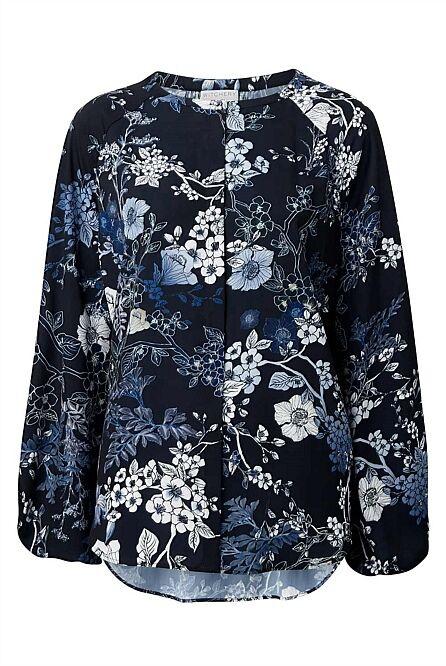 fd0f22ce157 Witchery WOMAN Hanako Print Shirt nnghmj7799-Blusen,Tops & Shirts ...