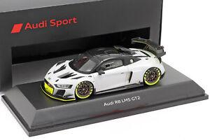 Audi-R8-Lms-GT2-Presentation-Car-Gris-Noir-Vert-Clair-1-43-Spark